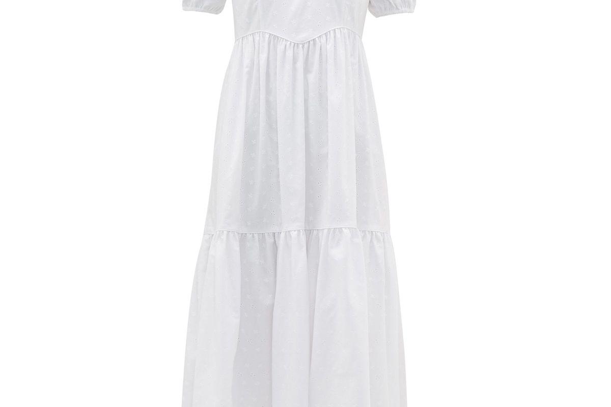 batsheva broderie anglaise cotton dress