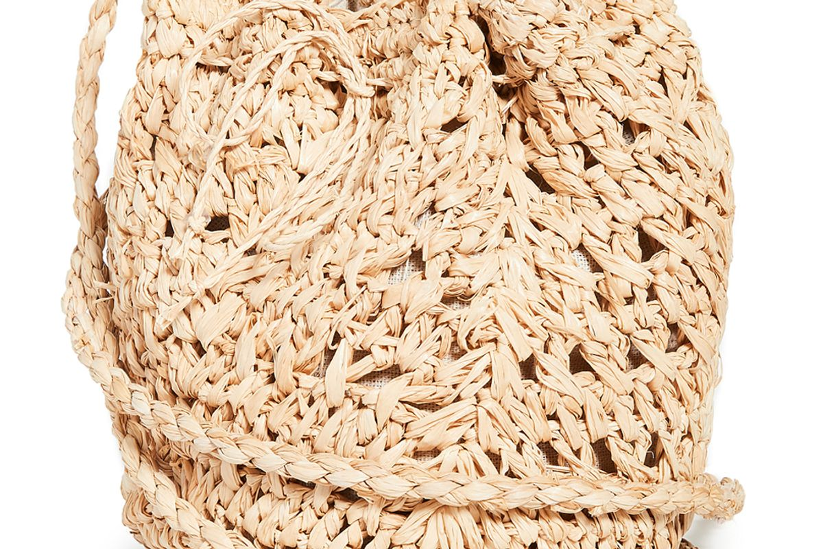 hat attack woven pouch crossbody