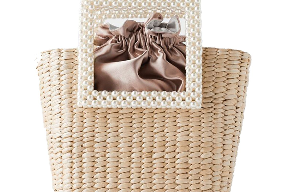zara pearl handle basket bag