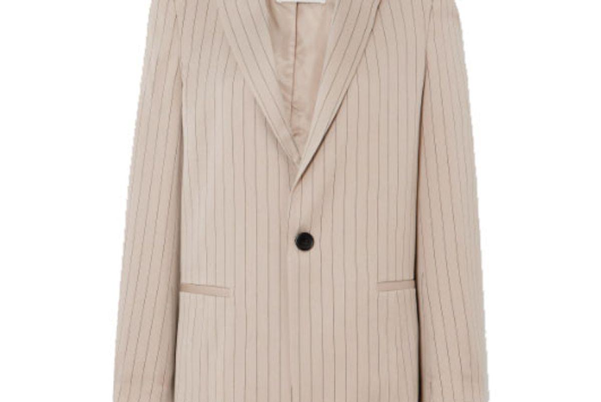 munthe emphasis pinstripe twill blazer