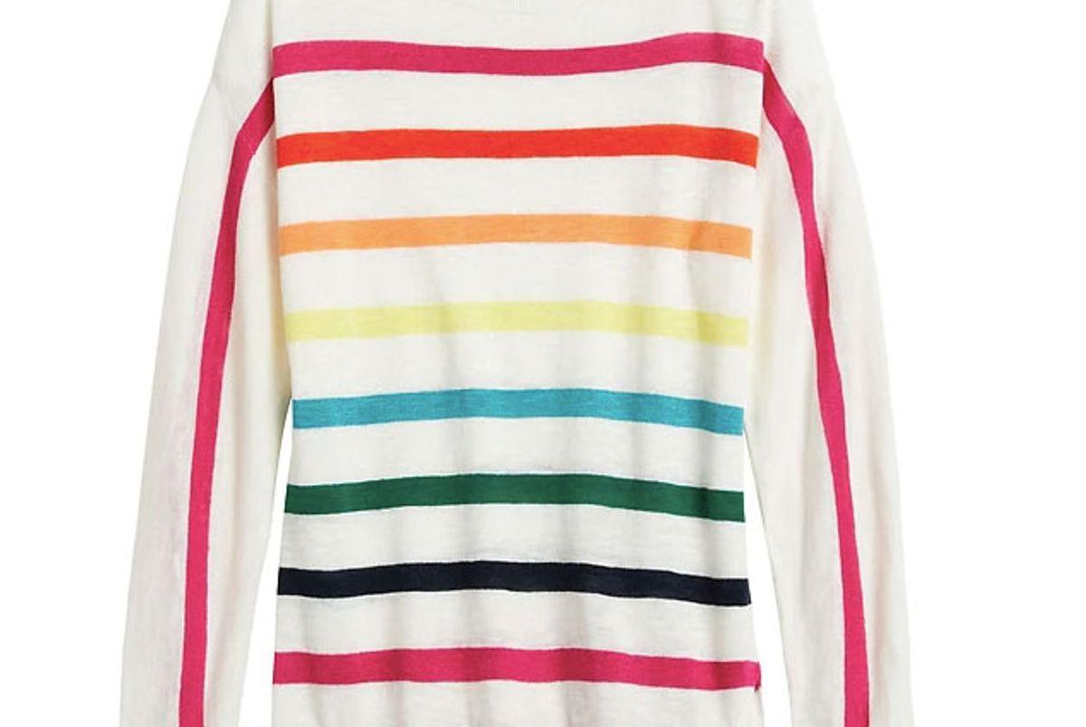banana republic pride 2020 rainbow boat neck sweater