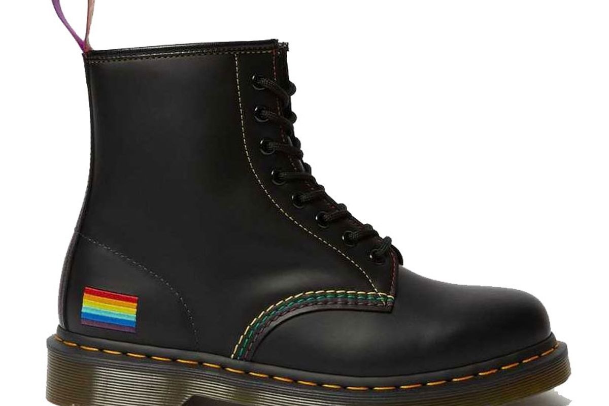 dr martens 1460 pride smooth leather lace up boots