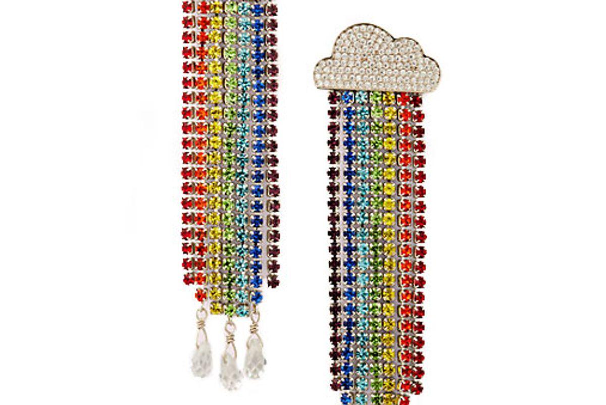 kate spade into the sky rainbow fringe linear earrings