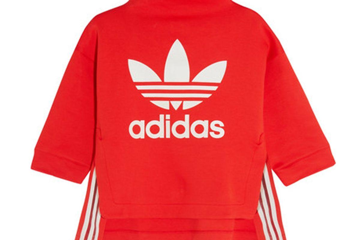 Asymmetric Printed Cotton-Blend Jersey Sweatshirt