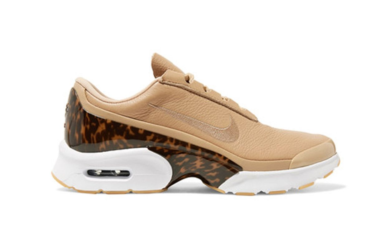 Air Max Jewell LX Leather and Tortoiseshell Plastic Sneakers