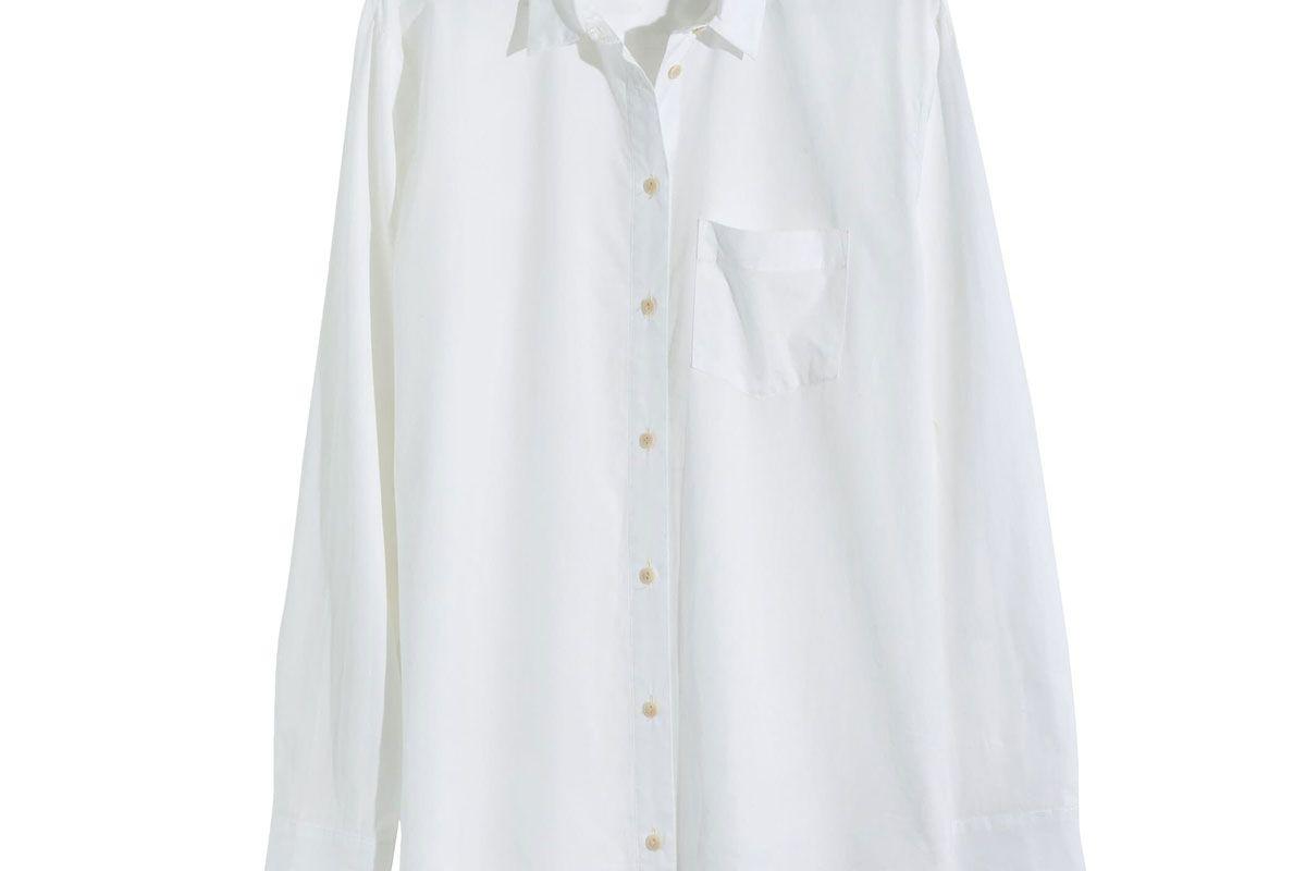 madewell poplin oversized ex boyfriend shirt