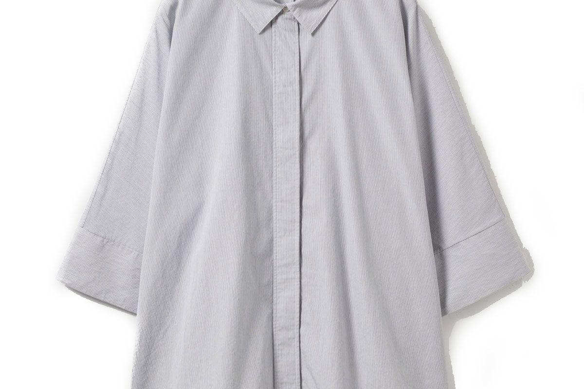 cos wide square cut cotton shirt