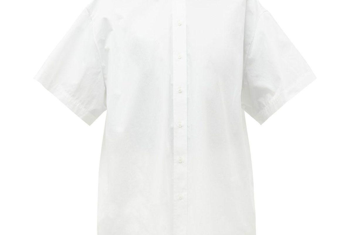 raey oversized short sleeved cotton shirt