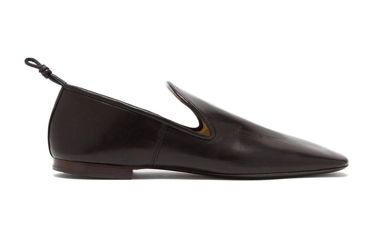 lemaire knotted nappa leather loafers