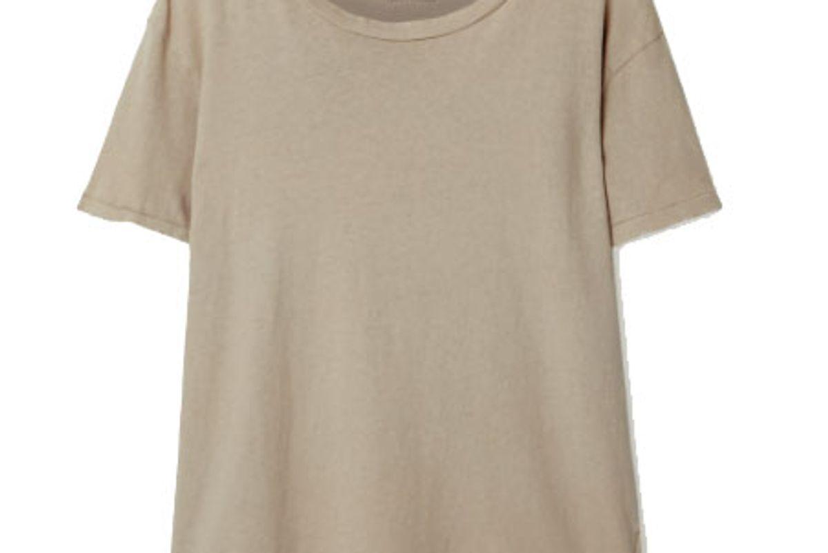 nili lotan brady distressed cotton jersey t-shirt