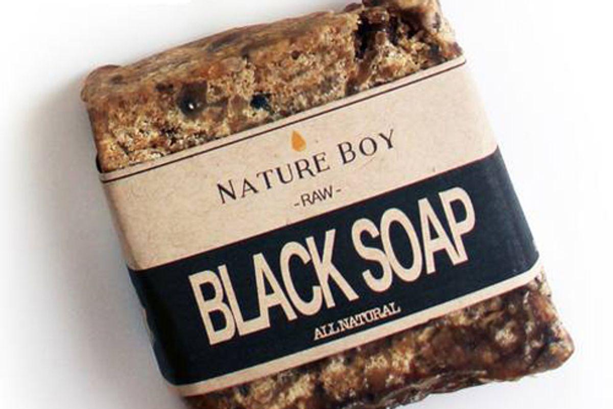 nature boy raw black soap