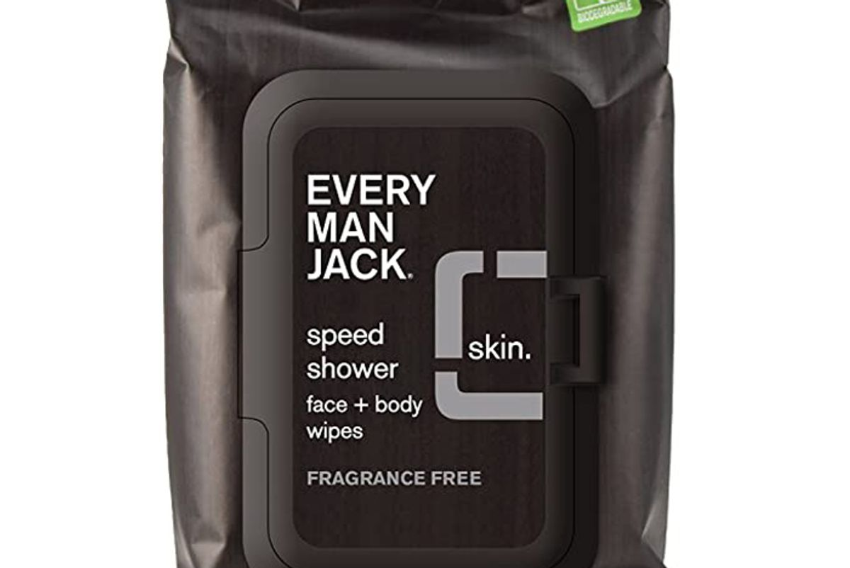every man jack speed shower face and body wipes sensitive skin