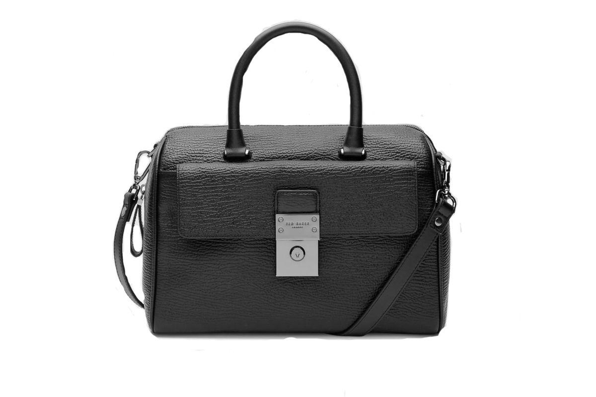 Manning luggage lock leather duffel bag