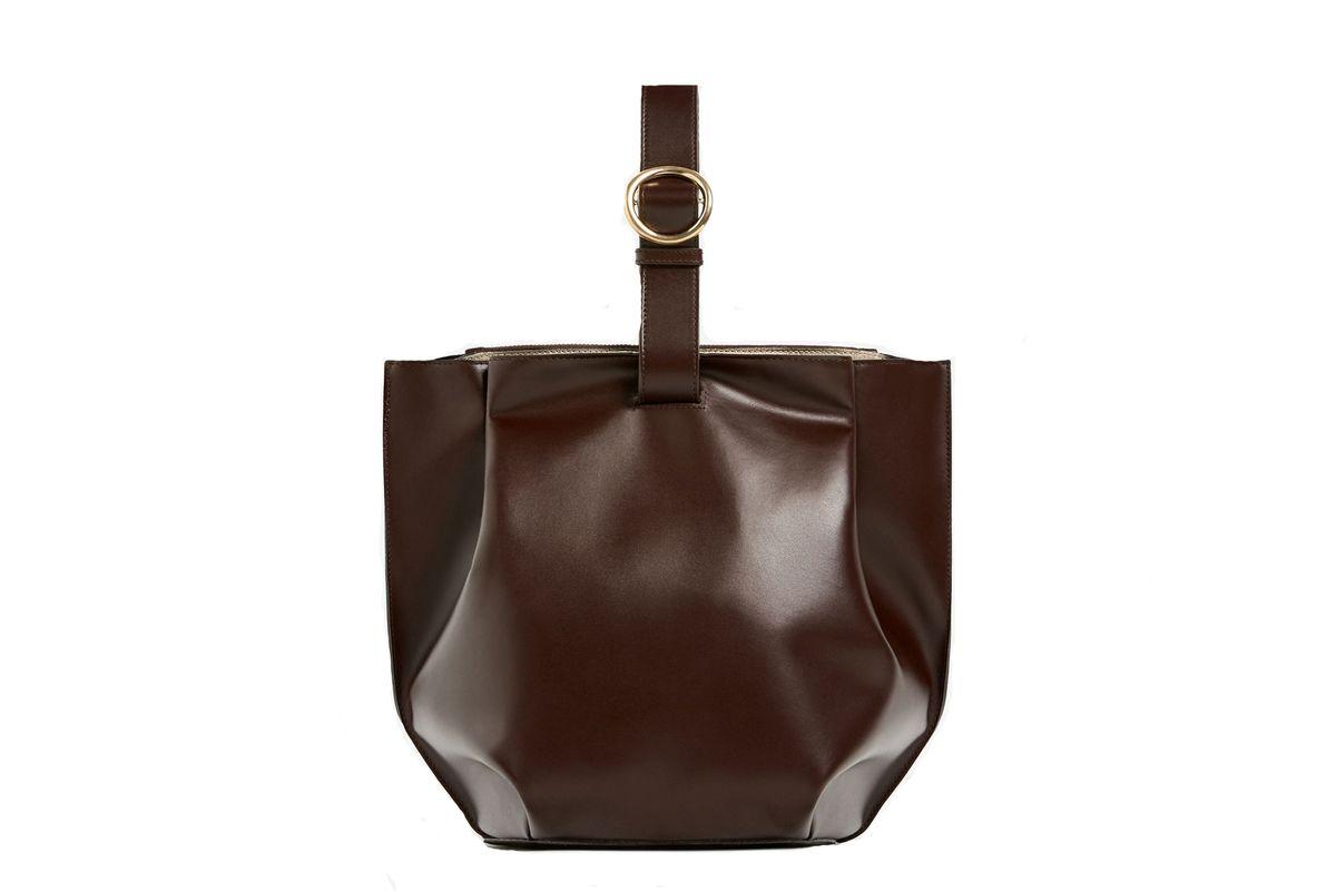 Single-Colour Buckled Bucket Bag