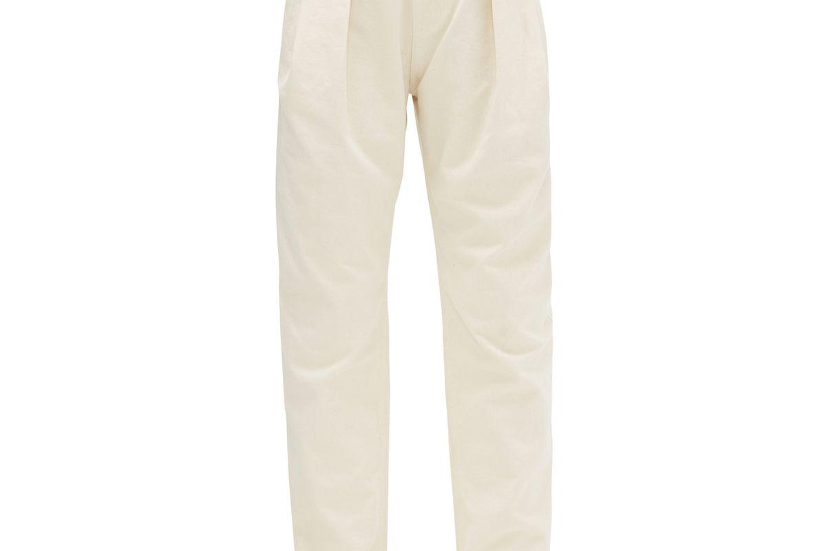 matthew adams dolan pleated straight leg jeans
