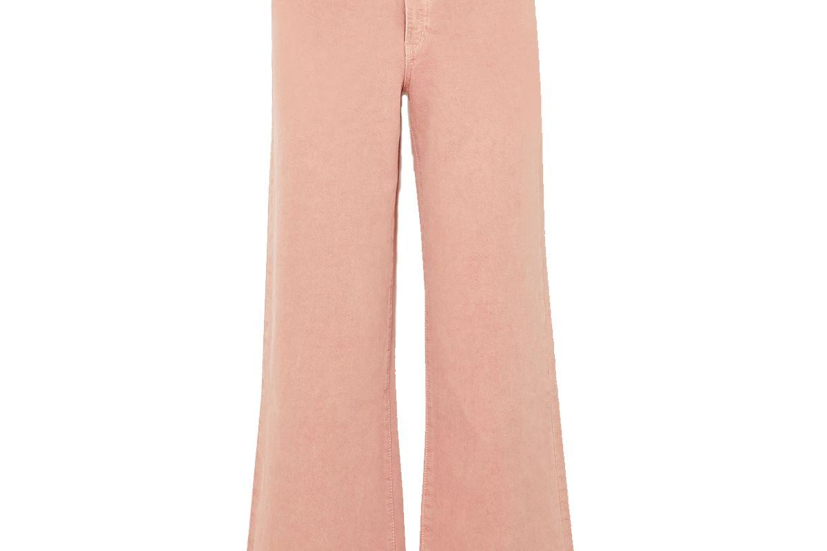 slvrlake grace cropped high rise wide leg jeans