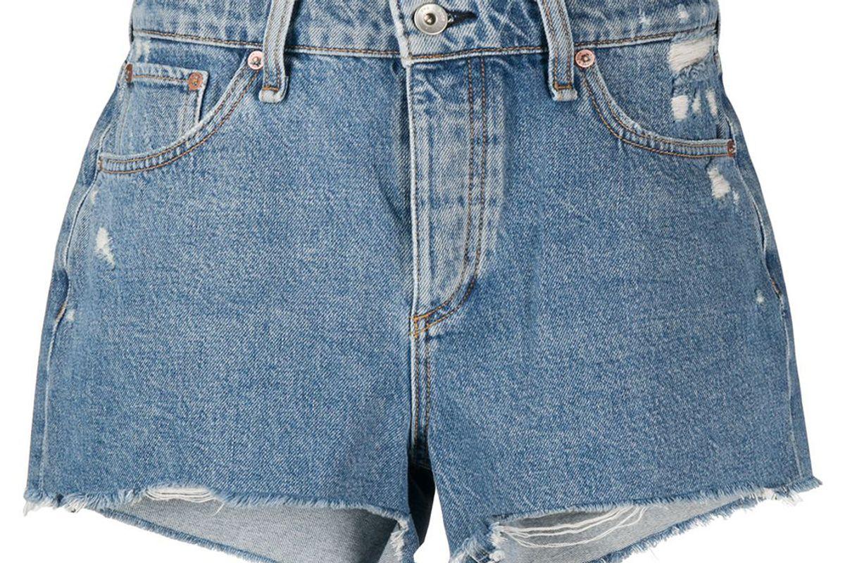 rag and bone misha distressed denim shorts