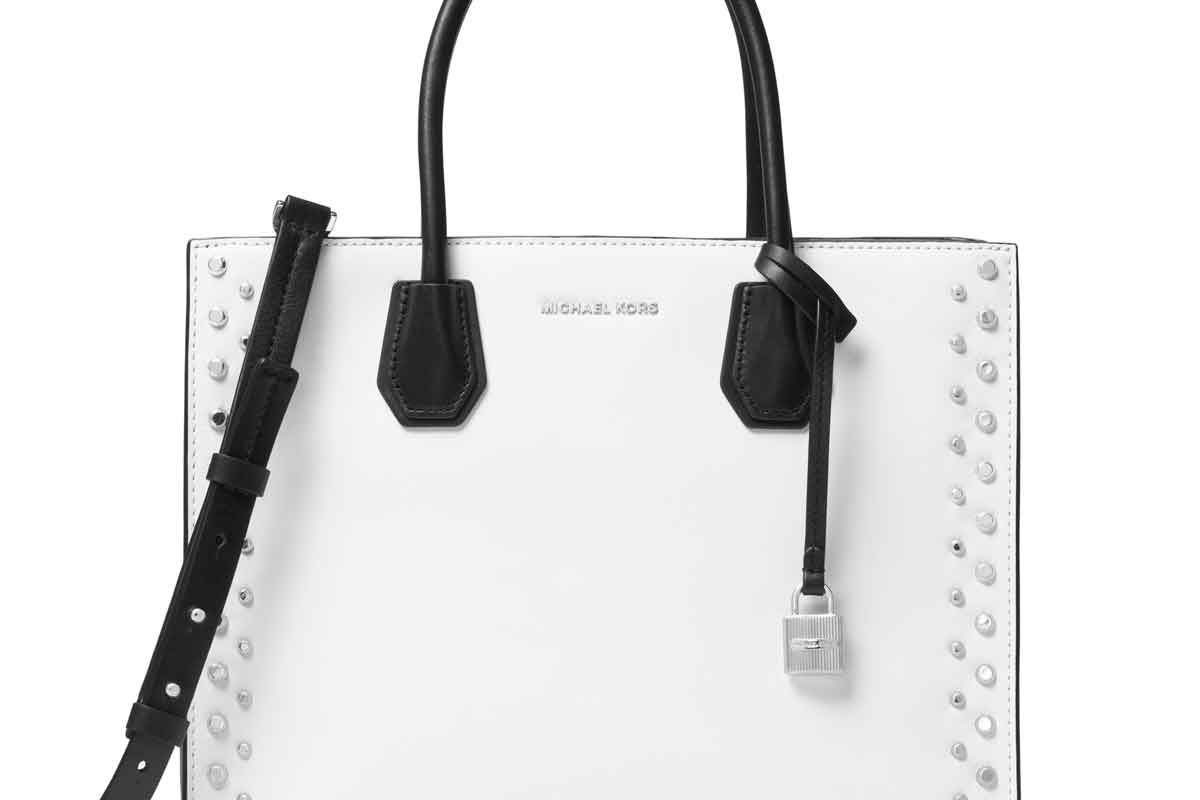 Mercer Large Studded Leather Tote