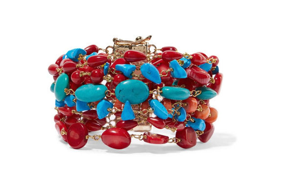 rosantica prato florito gold-tone beaded bracelet