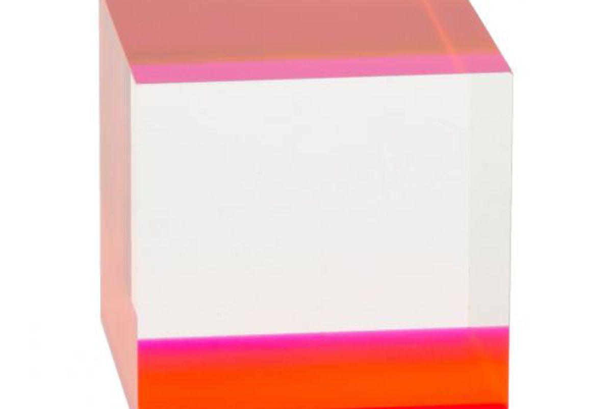 shop pop displays fluorescent pink accent solid block riser