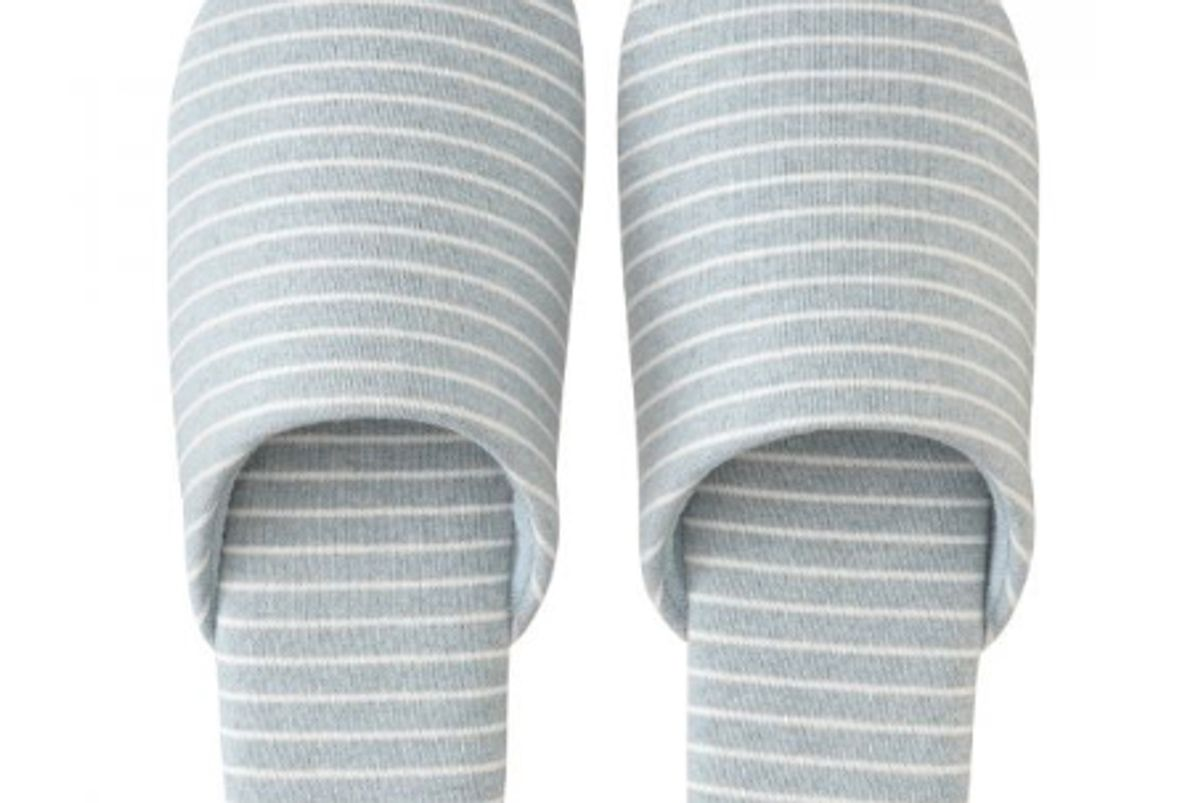 muji cotton jersey soft slippers