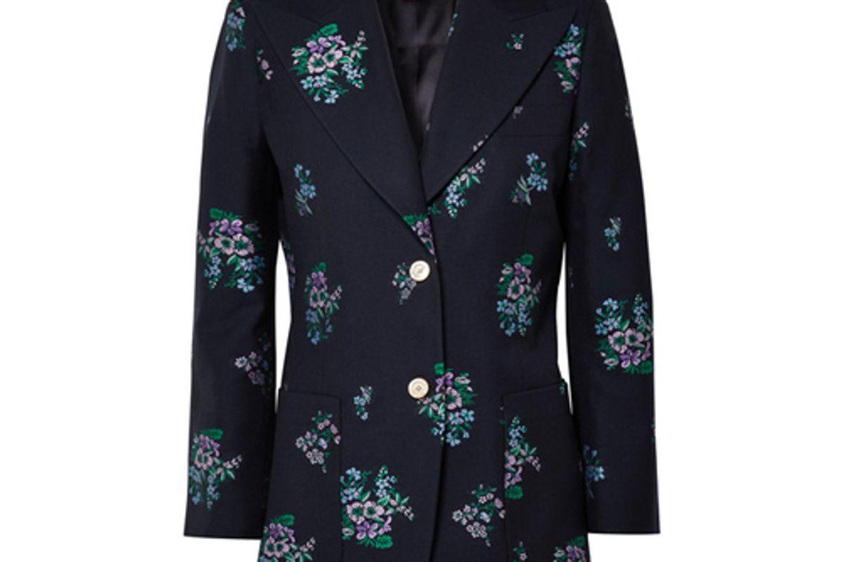 gucci cotton and wool blend jacquard blazer