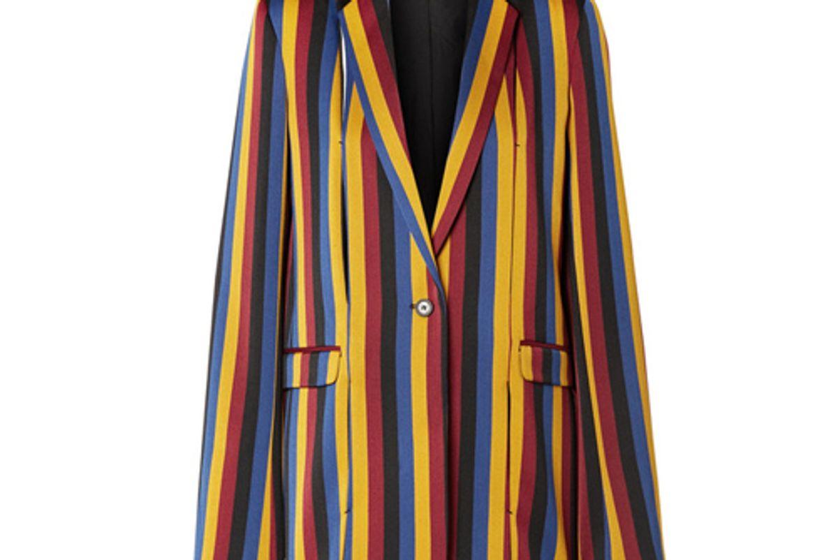 rokh striped cotton and wool blend jacquard blazer