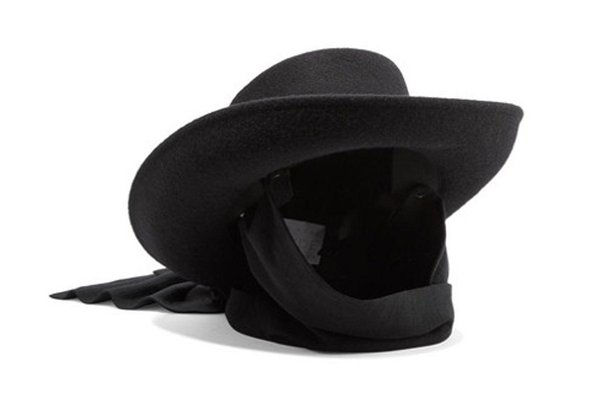 clyde gambler jersey trimmed wool felt hat