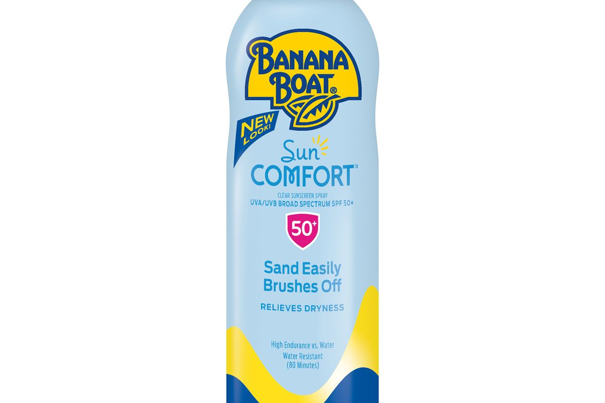 banana boat sun comfort clear sunscreen spray