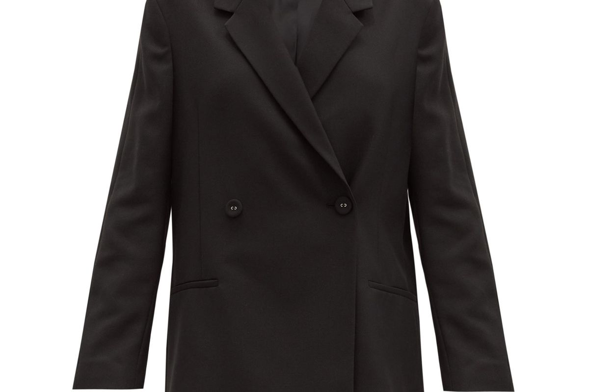 toteme double breasted crepe jacket