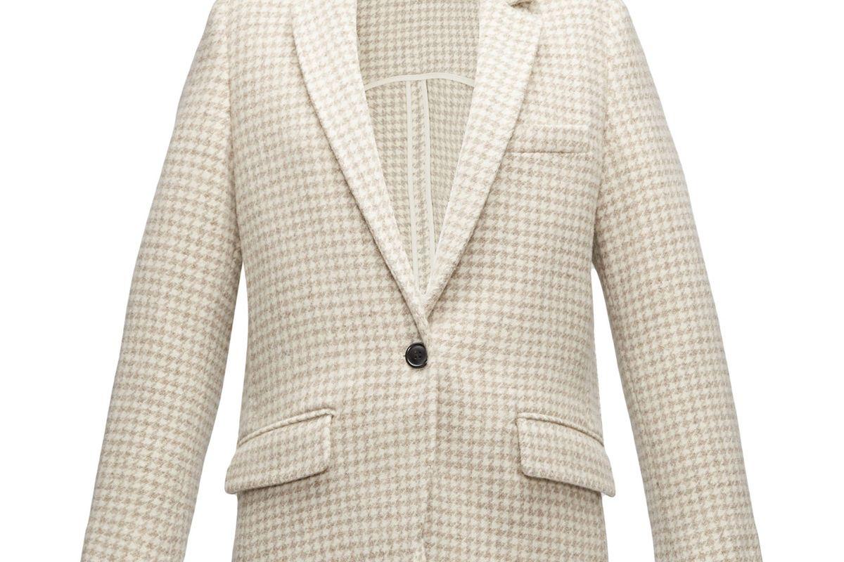 isabel marant etoile charly houndstooth tweed blazer