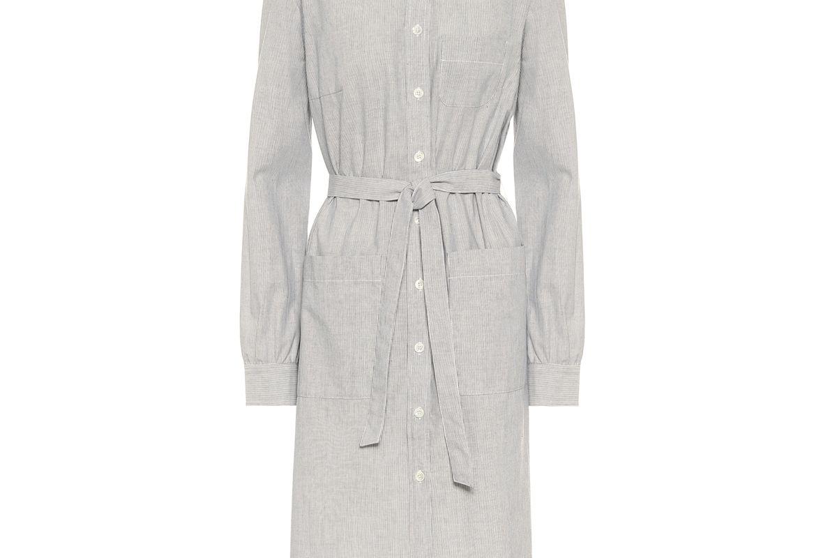 apc emmanuelle cotton shirt dress