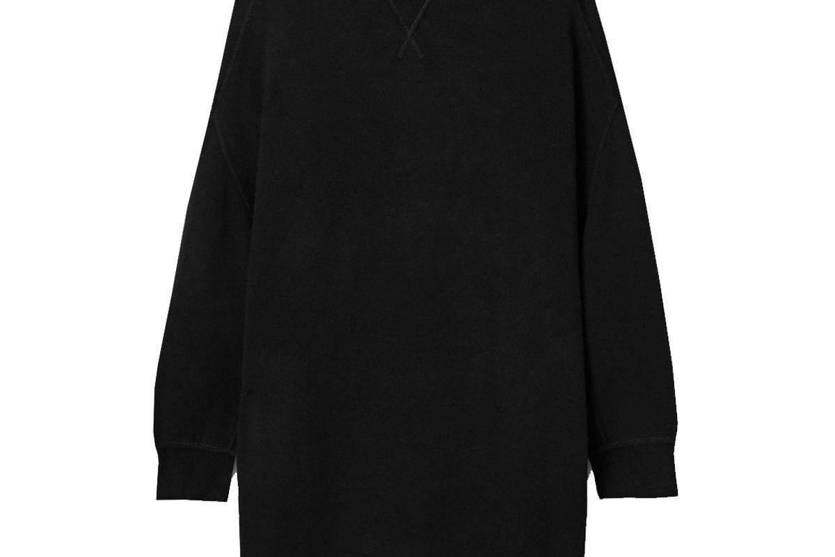 r13 grunge oversized cotton blend mini dress