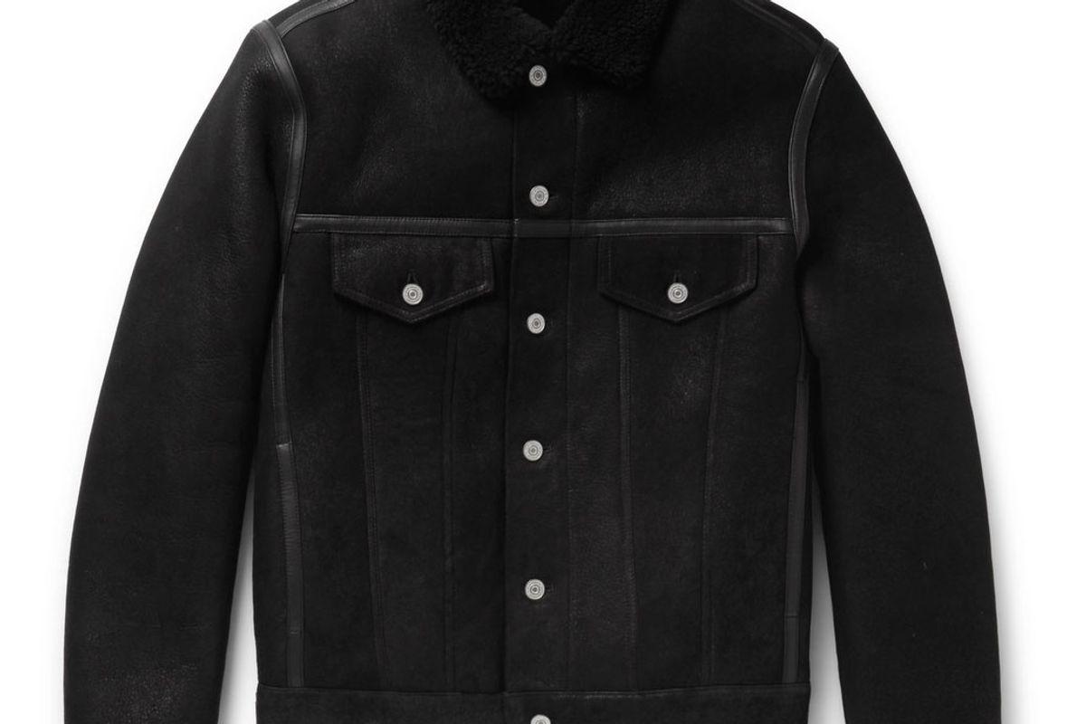 ps by paul smith shearling trucker jacket