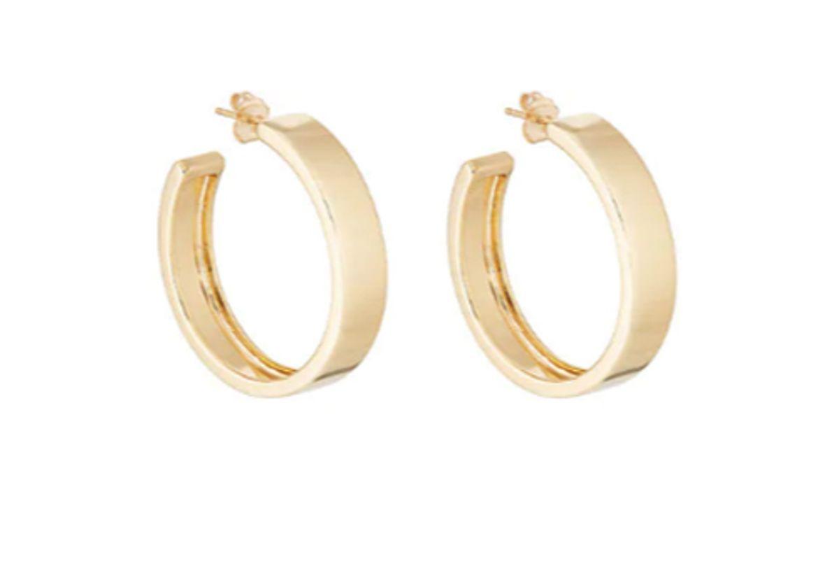 agmes large modernist hoop earrings
