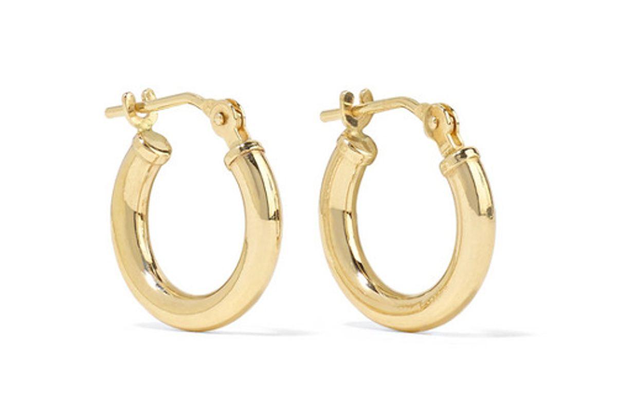 loren stewart baby chubbie huggies gold tone hoop earrings