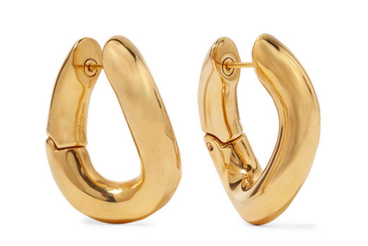 balenciaga gold tone earrings