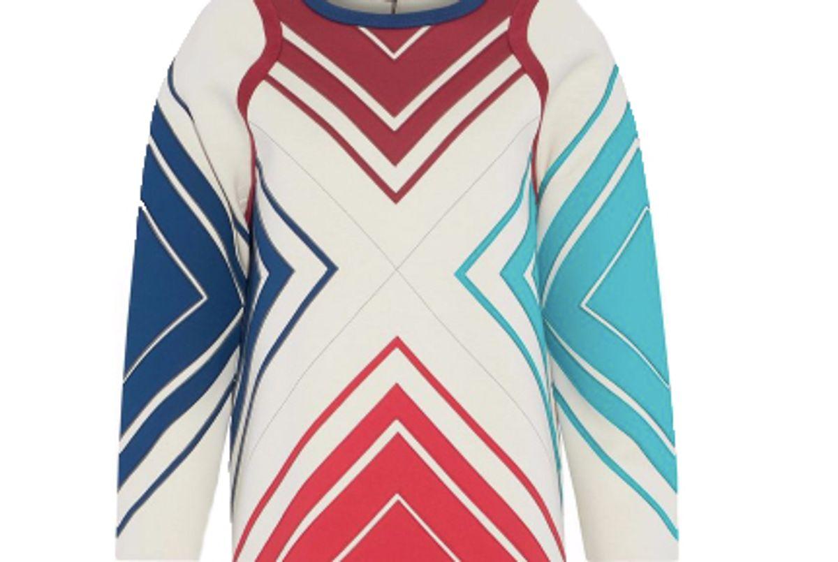 anya hindmarch paneled neoprene and cotton terry sweatshirt