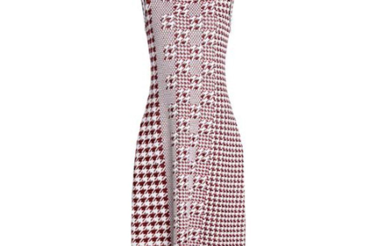 oscar de la renta knitted wool dress