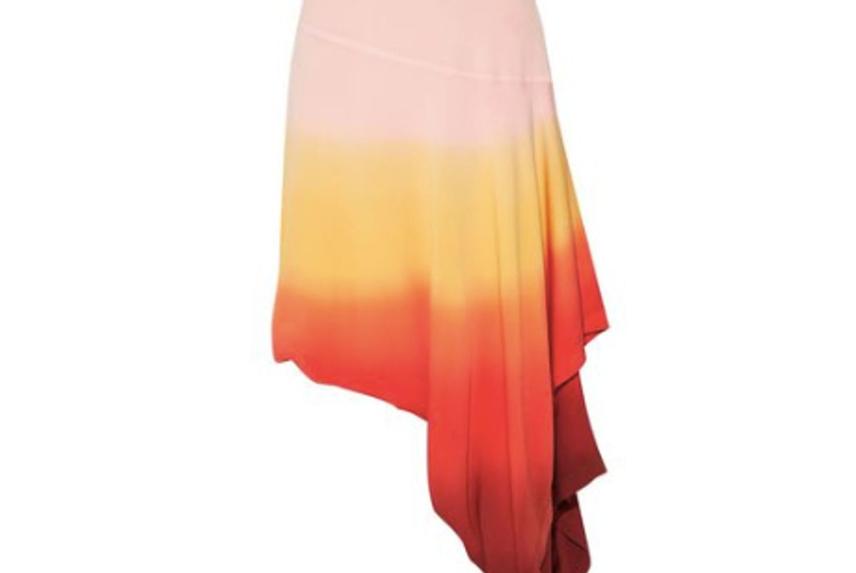 j.w.anderson asymmetric layered degrade crepe skirt
