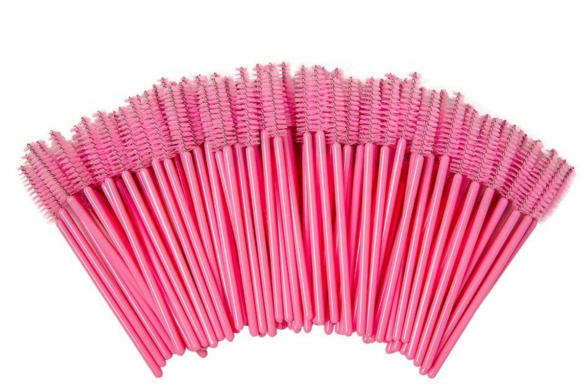 100pcs Eyelash Mascara Brushes Disposable Eye Lash Wands Applicato