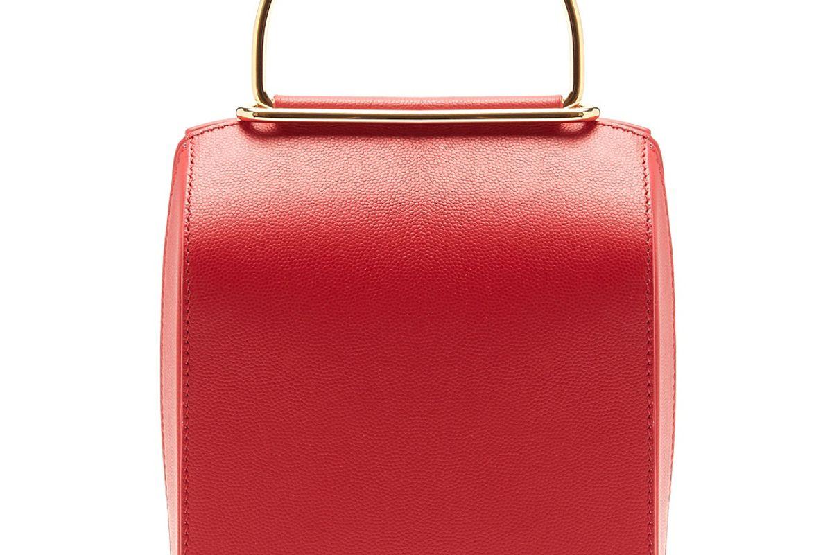 Besa Top-Handle Leather Shoulder Bag