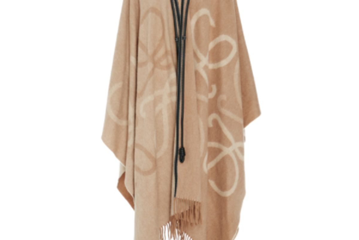 Wool And Cashmere Blanket Cape
