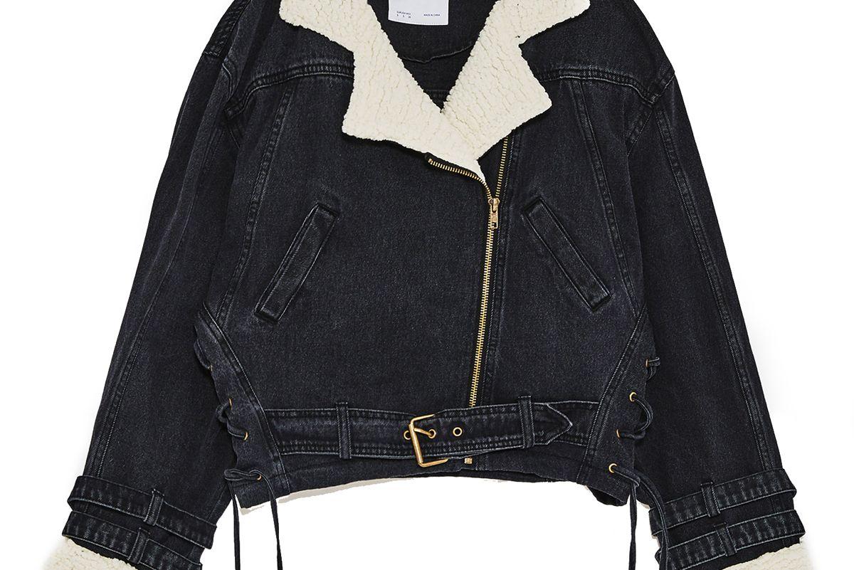 Denim and Shearling Jacket