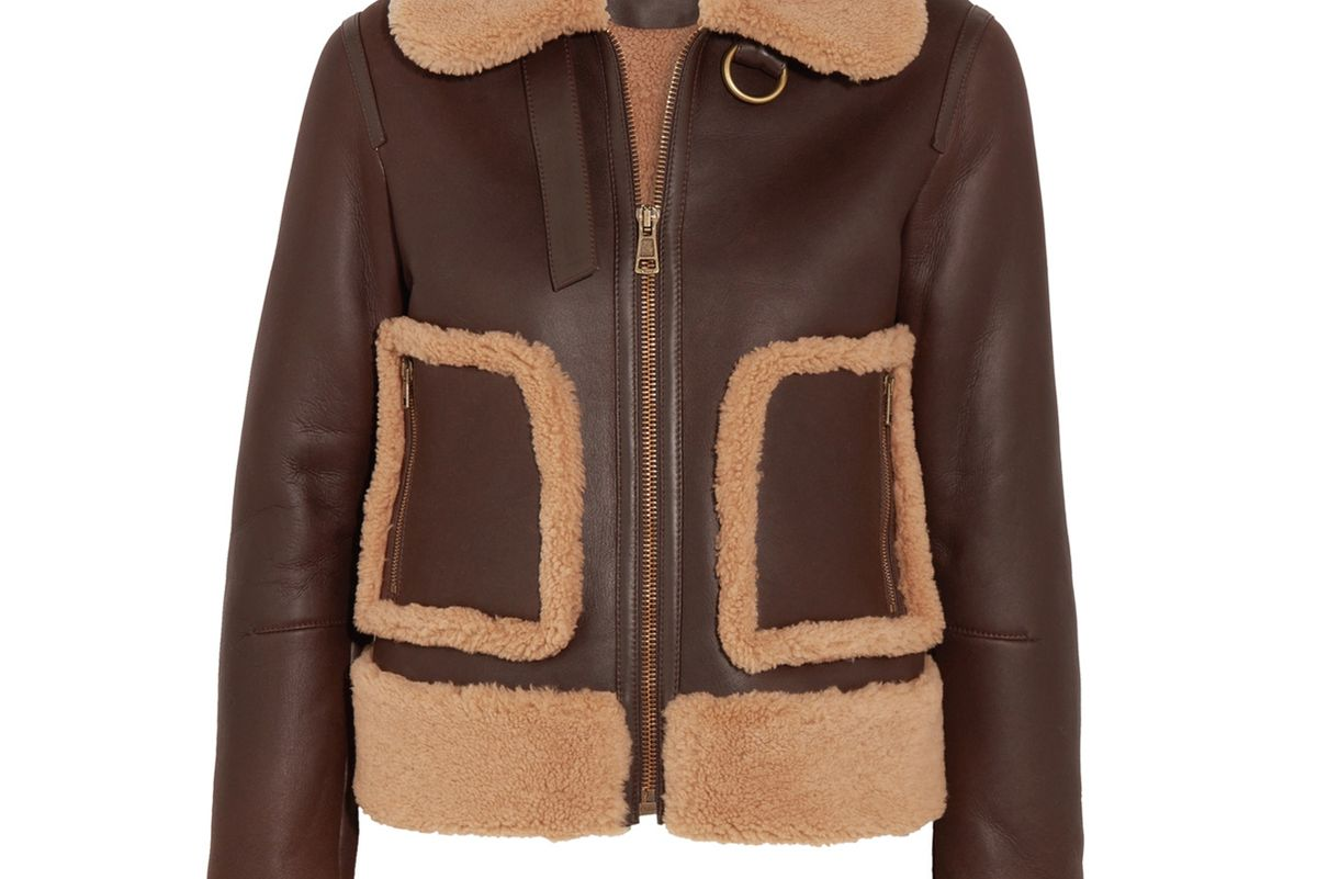Shearling and Leather Jacket