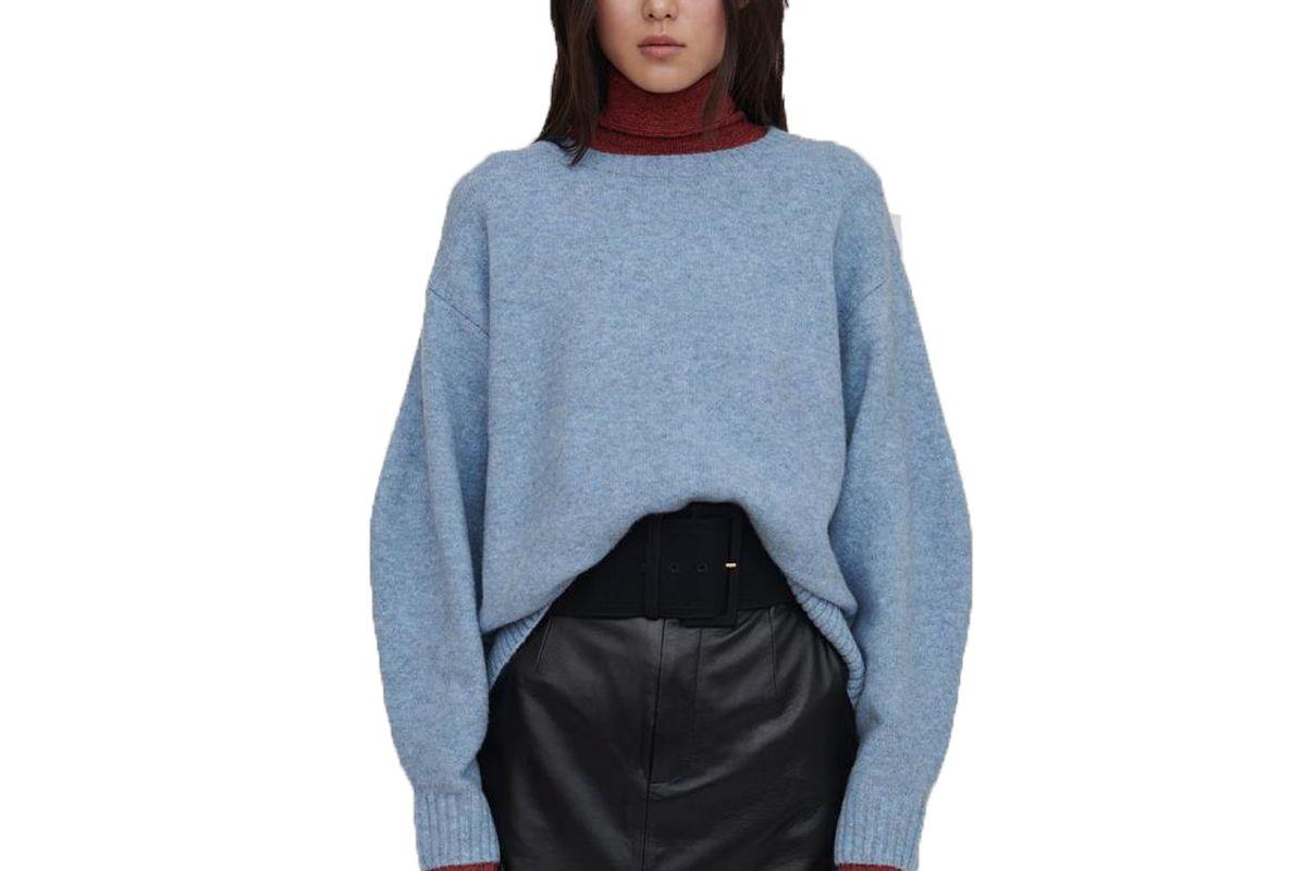 faye wool sweater blue