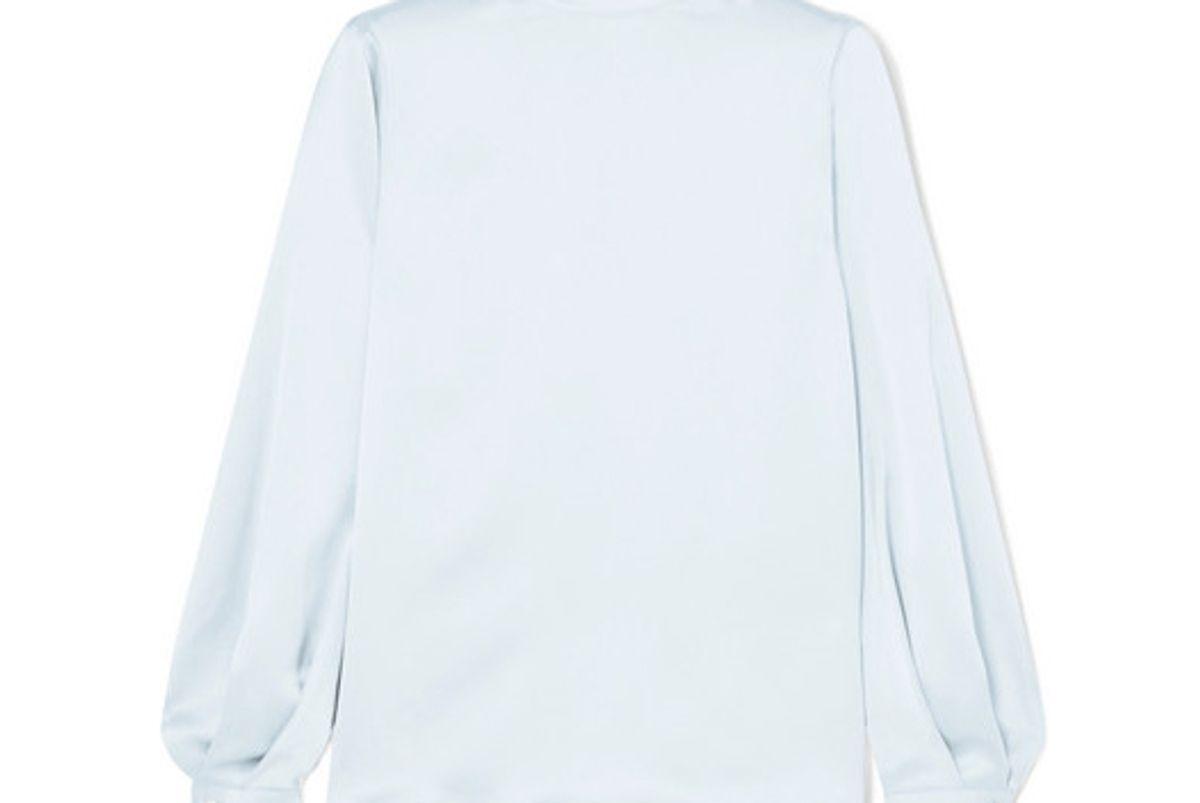 vince silk satin turtleneck blouse