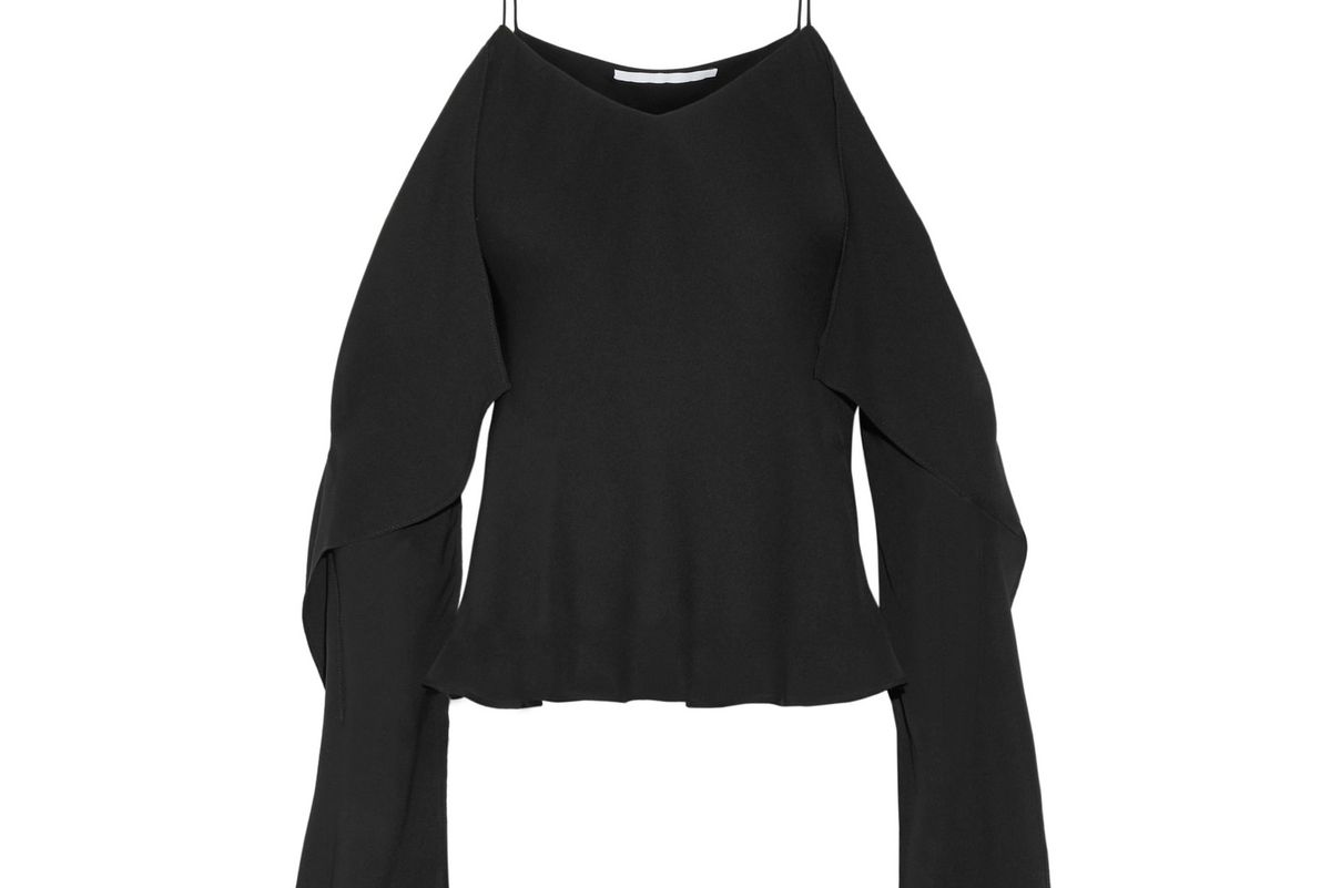 Off-the-shoulder Silk-georgette Top