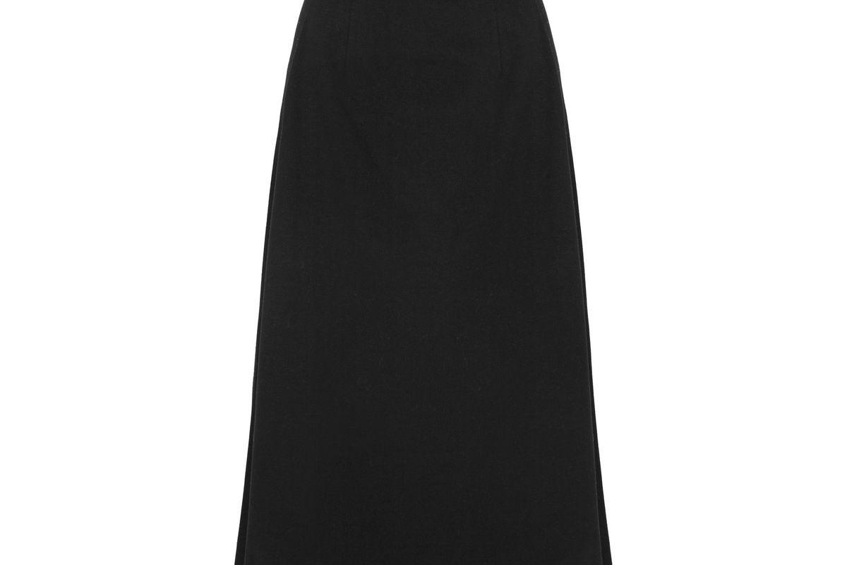 Cotton-jersey Midi Skirt