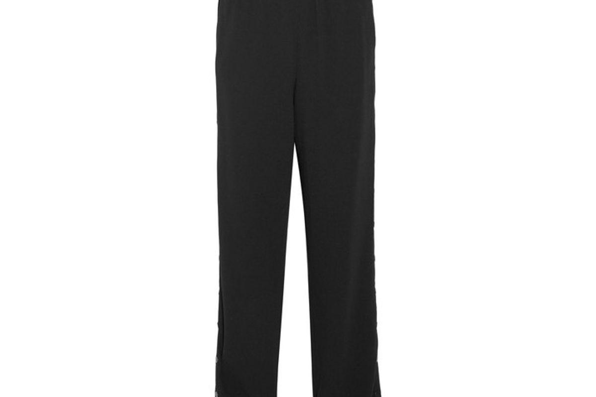 Snap-fastening Crepe Pants
